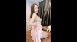 สาวแว่นไทยอย่างเด็ดผิวขาวเนียน